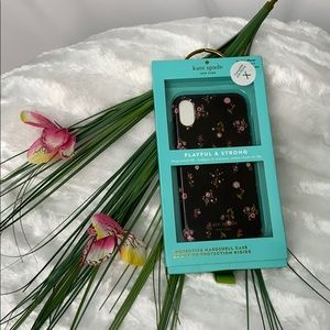 NWT Kate spade iphone case floral black